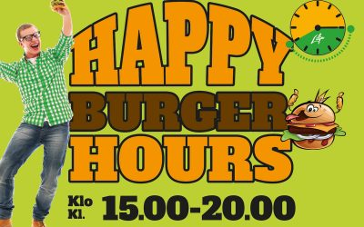 Happy Burger Hours klo 15.00-20.00